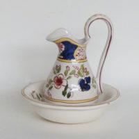 E16-2 jarra y palangana de porcelana