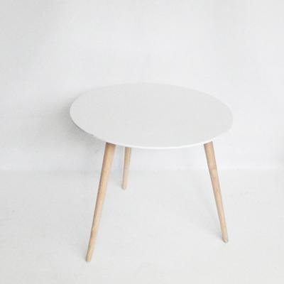 Mesa auxiliar tablero redondo blanco el almac n de atrezzo for Tablero redondo para mesa