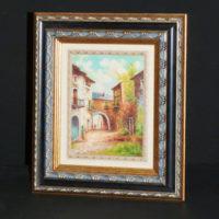 P4-c13-cuadro-calle-de-pueblo-con-marco-de-madera