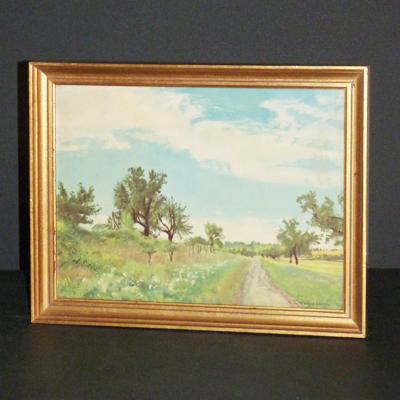 cuadro de paisaje con rboles